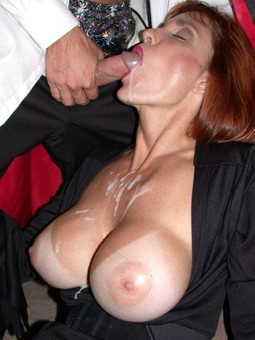 Only facial cumshots, horny matures..