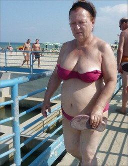 Sexy old whores in the bikkini