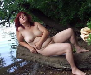 Nude mature riding