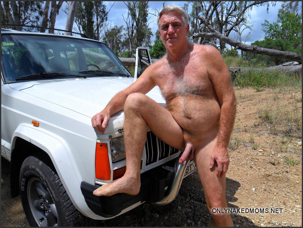 Excited nude male hairy posing think, that
